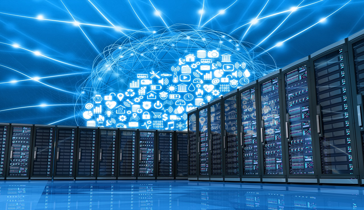 Cloud computing emerging from computer servers, technology innovation