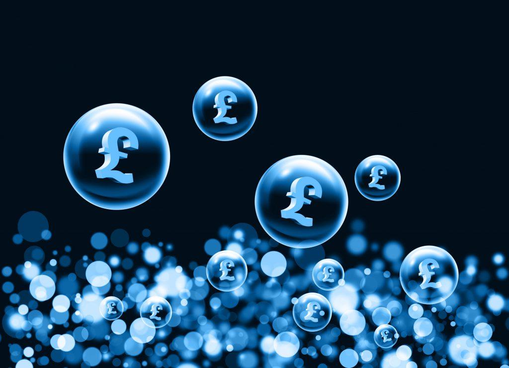 An illustration of 3d pound symbols inside bubbles