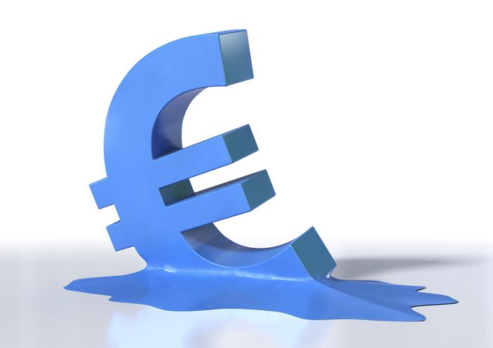 Euro crisis, conceptual computer artwork.