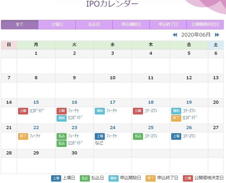 ※IPOカレンダー